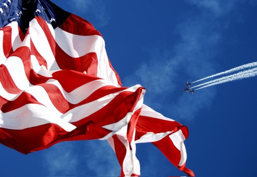 Dulakis Painting American Flag Florida
